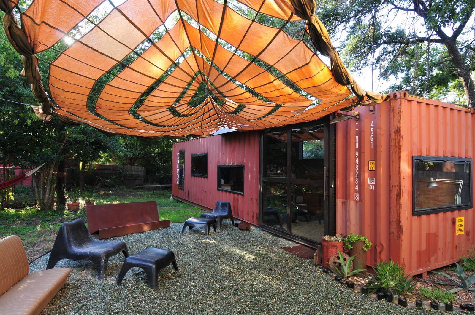 shipping container garden shed