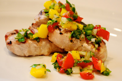 Grilled Port Chops with Mango Salsa