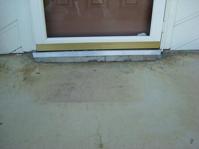 Epoxy Floor Coatings Concrete Repair Of Door Threshold