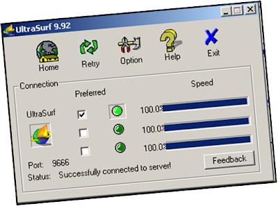 Ultrasurf proxy server