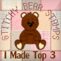 My card made Top 3 at Donna's Den of Crafts