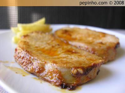Lomo al horno en salsa de mostaza