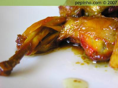 Codorniz en salsa de perdiz