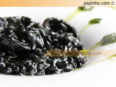 Arroz (muy) negro con chopo