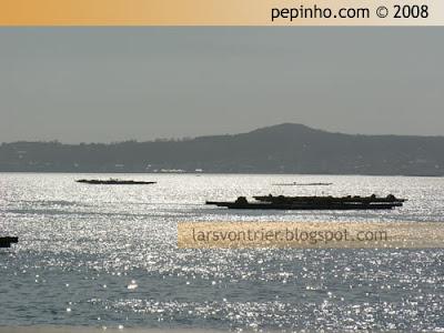 A ría de Arousa vista dende o Faro de A Illa