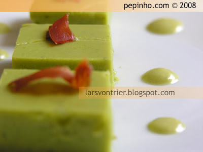 Crema de guisantes a la menta – Sopa de guisantes a la menta – Sopa/crema de guisantes gelificada