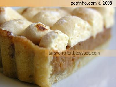 Tarta de dulce de leche y naranja