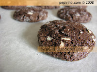 Galletas dos chocolates - Double chocolate cookies