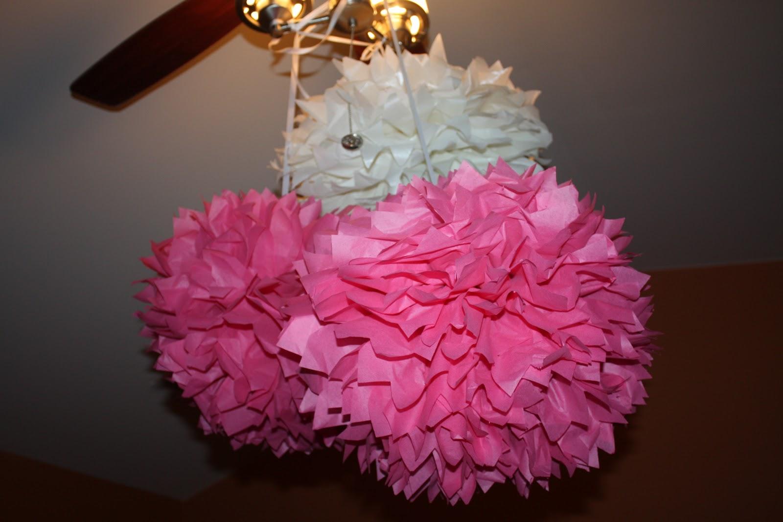 Hanging tissue paper balls