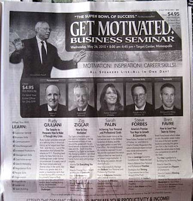 Top half of a Get Motivated Seminar ad