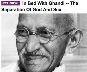 HuffPo headline misspelling Gandhi as Ghandi