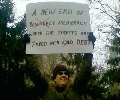 A new era of medioracy where the streets are paved with debt