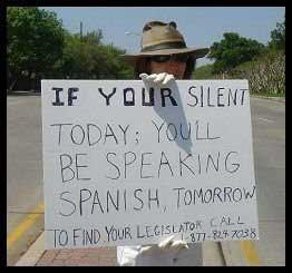 If your silent today you'll be speaking Spanish tomorrow