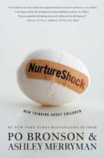 Cover of Nurture Shock shows a broken egg put back together with a bandaid