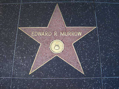 Walk of Stars star for Edward R Murrow