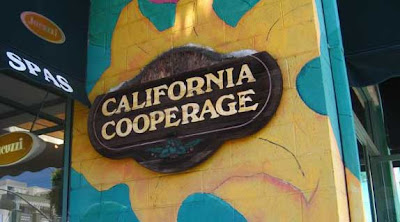 Sign reading California Cooperage