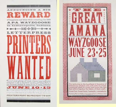 Two Wayzgoose posters for APA