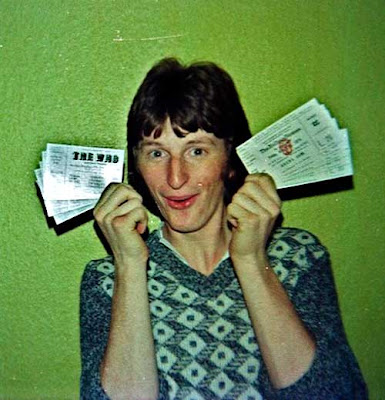 Teenaged Billy Bragg in 1976 with concert tickets