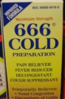 666 cold medicine