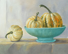 Squash in green bowl