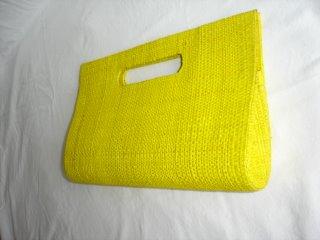 Bolsa de Mão Palha Amarela