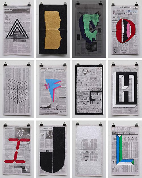 Phil Yamada, alphabet paintings