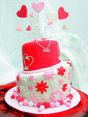 Saucing Around, Jo\'s Deli: Heart & Floral Theme Mad Hatter Cake