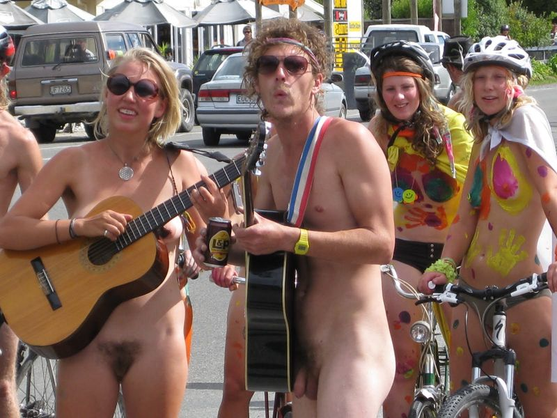 Jas golden bays third annual world naked bike ride haha!!