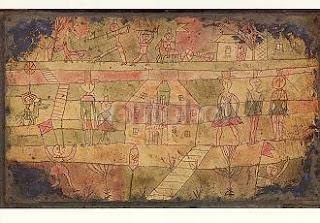 Paul Klee, Arrival of the Jugglers, Ankuft der Galukler, 1926