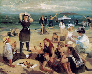 John Sloan, South Beach Bathers, 1907