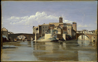 Corot, The Island and Bridge of San Bartolomeo, Rome, 1825/1828