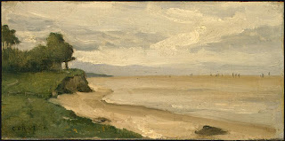 Corot, Beach near Etretat, c. 1872