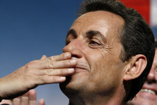 Nicolas Sarkozy at Marseille on April 19