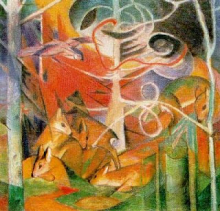 Franz Marc, Deer in the Forest I
