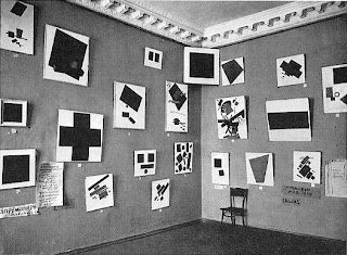 Suprematist Walls at the Last Futurist Exhibition in Moscow, 1915