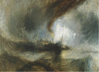 Joseph Mallord William Turner - Snow Storm -- Steam Boat off a Harbour's Mouth Making Signals in the Shallow Water, and Going by the Lead. The Author Was in This Storm on the Night the Ariel Left Harwich