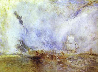 Joseph Mallord William Turner - Whalers (Boiling Blubber) Entangled in Flaw Ice, Endeavouring to Extricate themselves
