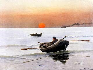 Stanislaw Witkiewicz - Zachód słońca na morzu, Muzeum Narodowe, Kraków