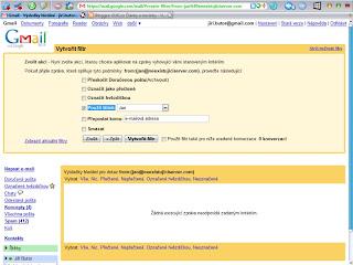 Filtry Google Mail - 2. krok