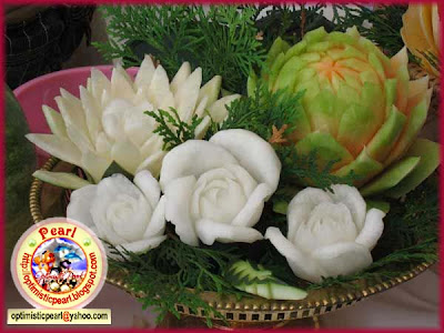 Fruit -Vegetable Carving, Fruits and vegetables decoration ...
