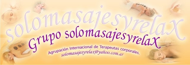 Solomasajesyrelax, Agrupación de Terapeutas Corporales.