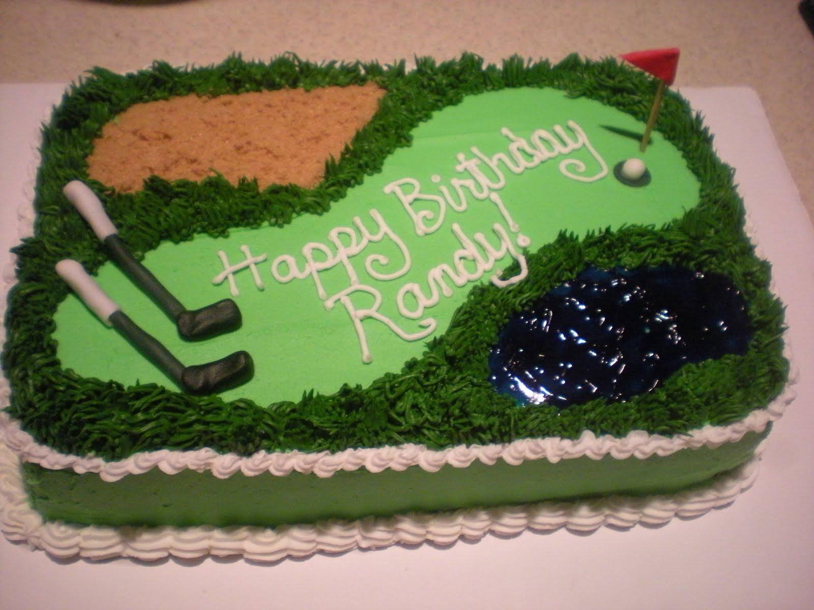 Katy Cake Girls Golf Cake