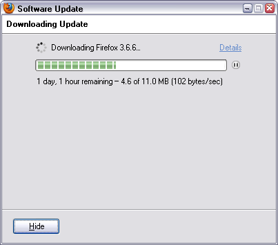 Firefox 3 6 6 update dialog :) - Andriy Buday