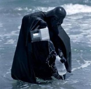 Vader com Liquidificadr no Mar