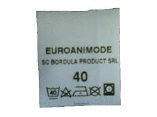 Etichetă din poliester textil pentru identificarea produselor EUROANIMODE ®
