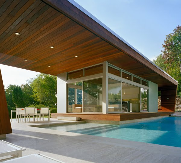 Contemporary Pool House: ' All About Modern Ideas ': Cool Pool House Idea That You