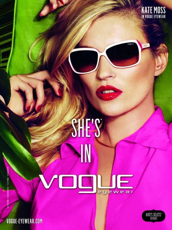 d923fabee22 Kate Moss (Vogue Eyewear Ad Campaign 2011) - Models Inspiration