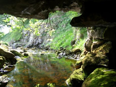 view from inside Brants Gill Head Rising cave