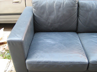 Astonishing Slate Blue Leather Sofa Ibusinesslaw Wood Chair Design Ideas Ibusinesslaworg