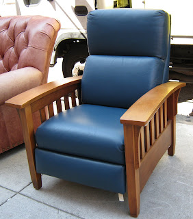 Ethan Allen Mission Style Leather Recliner Sold